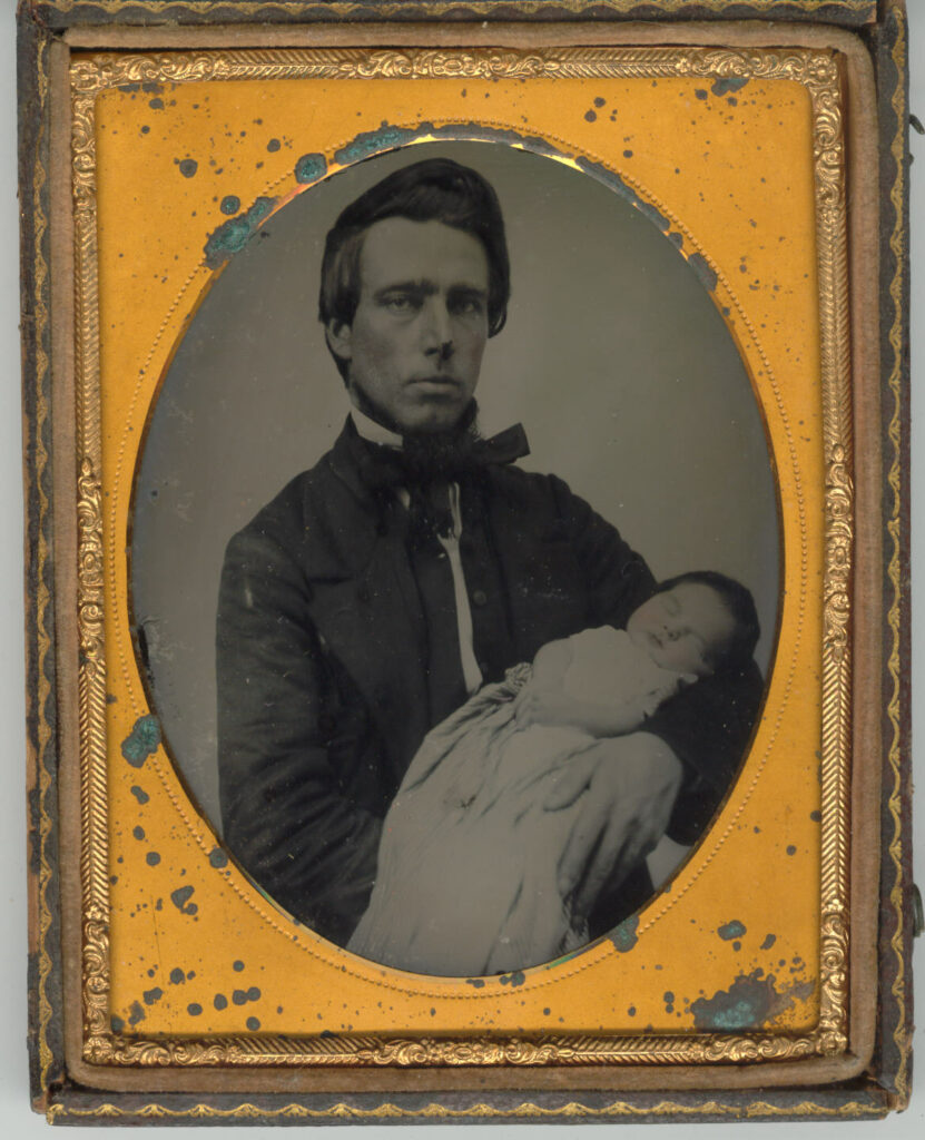 Father with dead child